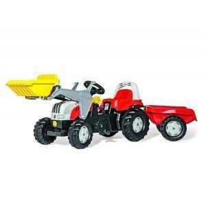rolly toys rolly toys trattore rollykid steyr con ruspa rimorchio