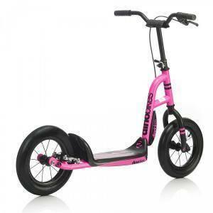 dino bikes dino bikes monopattino rosa fluo 12'' con freno