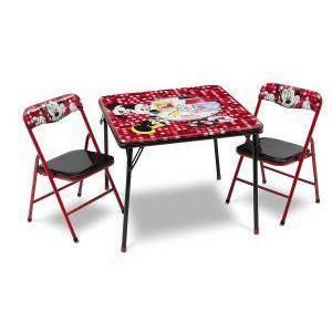 8381ad1cfd Toylandia import set tavolo e sedie ripieghevoli di minnie mouse