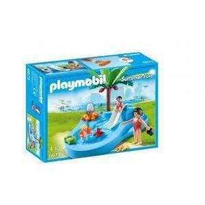 playmobil playmobil piscina dei bimbi con scivolo