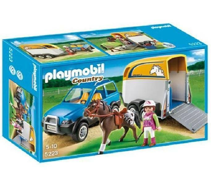 playmobil playmobil suv con trasporto cavalli
