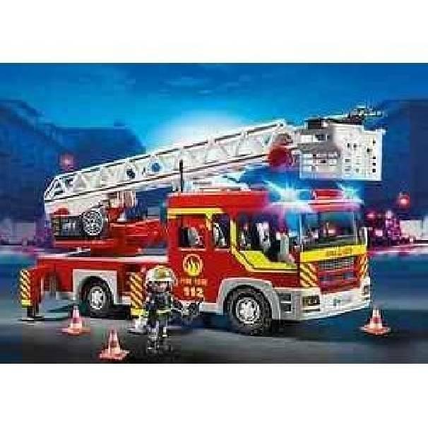 playmobil playmobil camion autoscala dei vigili del fuoco