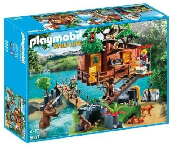 playmobil playmobil casa avventura sull'albero con ponte