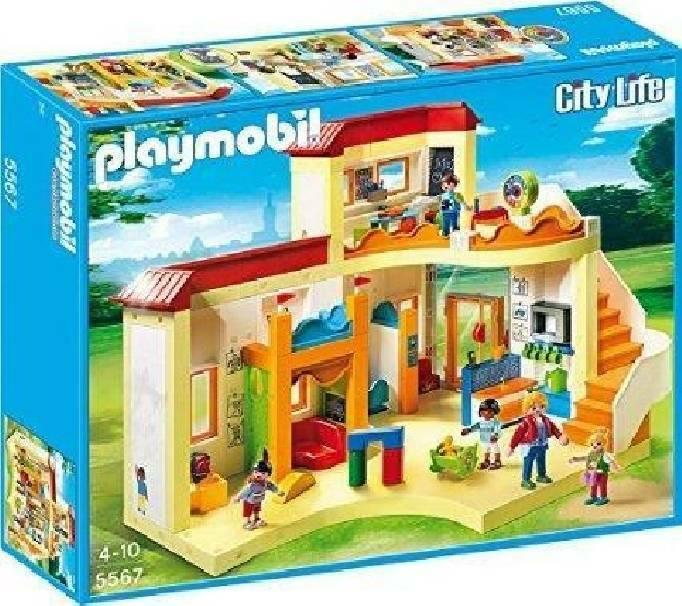 playmobil playmobil grande asilo con area gioco e nido