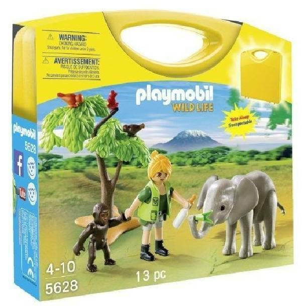 playmobil playmobil carrying case wildlife