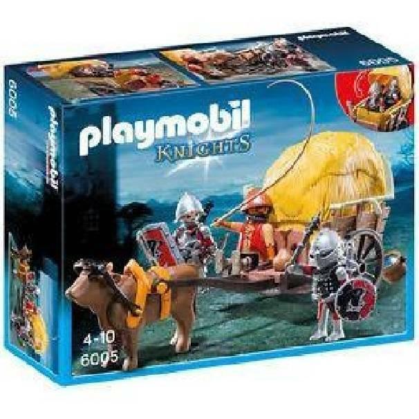 playmobil playmobil carro trappola dei cavalieri del falcone
