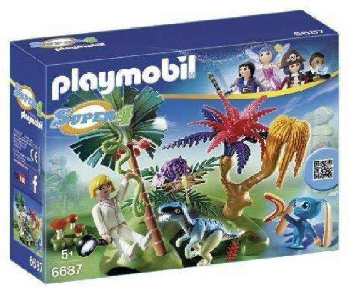playmobil playmobil l'isola perduta con alien e raptor