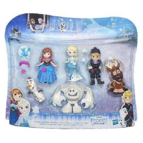 hasbro - mb hasbro - mb frozen personaggi piccoli collection pack