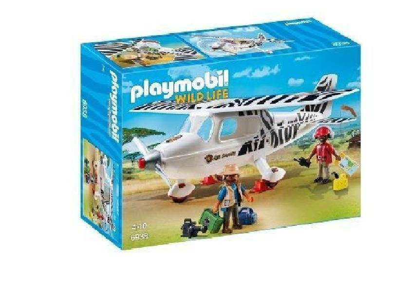 playmobil playmobil aereo di avvistamento fly-safari