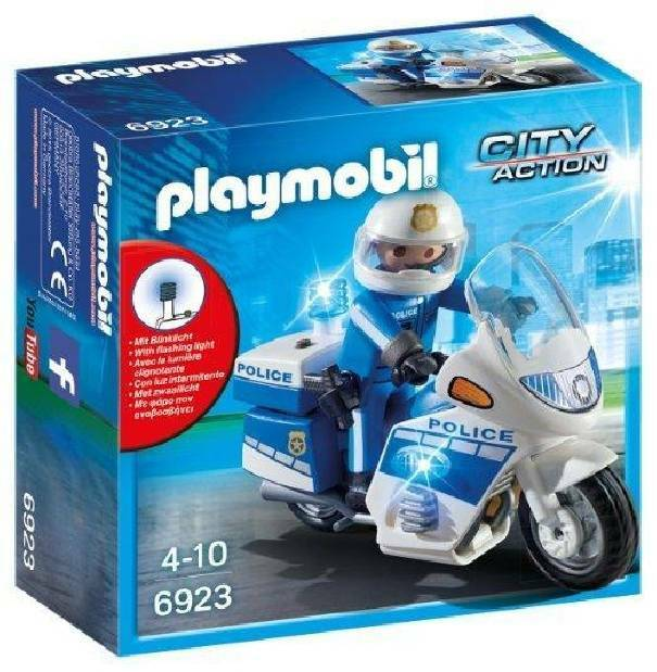 playmobil playmobil moto della polizia