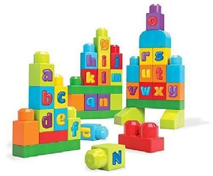 mega bloks mega bloks sacca costruzioni abc scrivi
