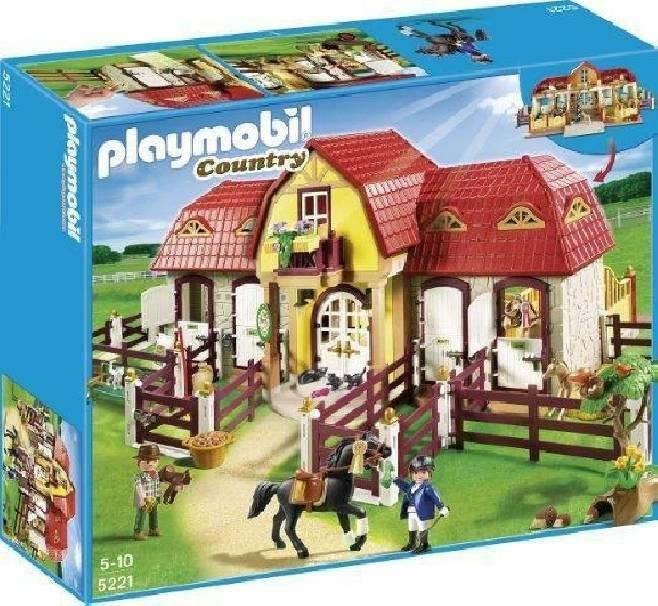 playmobil playmobil grande maneggio con recinto
