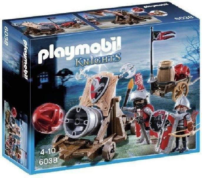playmobil playmobil cannone gigante dei cavalieri del falcone