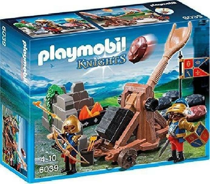 playmobil playmobil catapulta dei cavalieri del leone