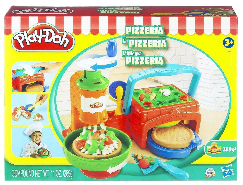 hasbro - mb hasbro - mb playdoh la pizzeria gioco con pasta da modellare