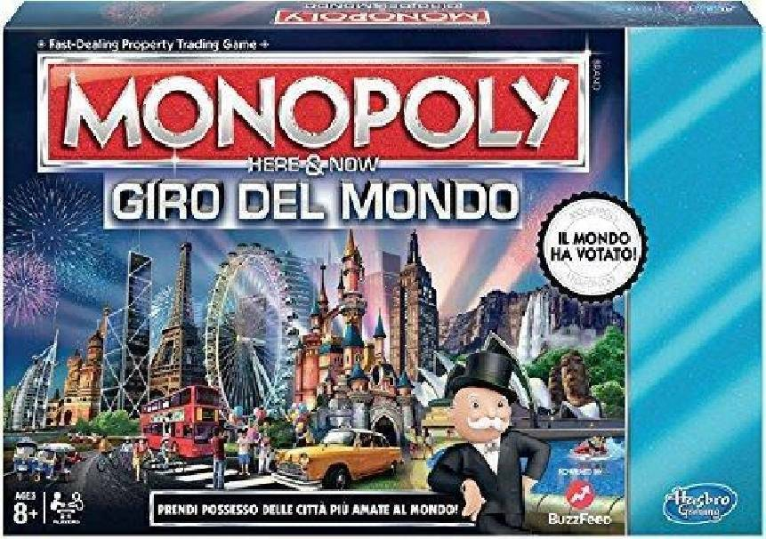 hasbro - mb hasbro - mb monopoly giro del mondo here & now