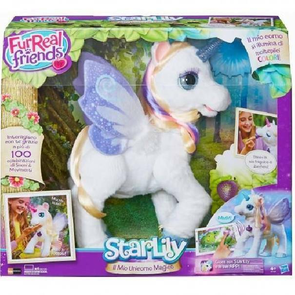hasbro - mb hasbro - mb unicorno starlily fur real friends