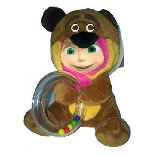giochi preziosi giochi preziosi masha e orso sonaglino con peluche 2 in 1
