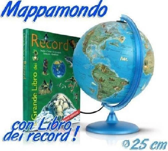 tecnodidattica tecnodidattica mappamondo con libro dei record