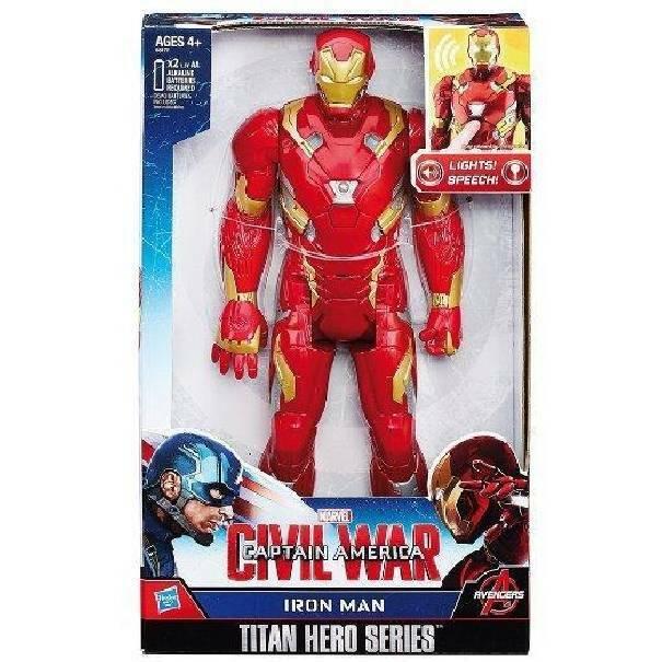 hasbro - mb hasbro - mb iron man marvel civil war personaggio elettronico