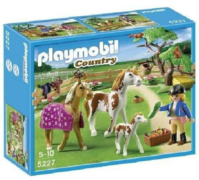 playmobil playmobil recinto con cavalli e pony