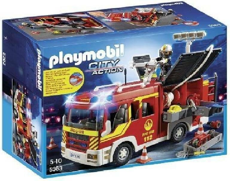 playmobil playmobil camion autopompa dei vigili del fuoco