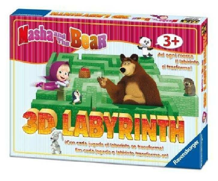 ravensburger ravensburger masha & orso 3d junior labyrinth