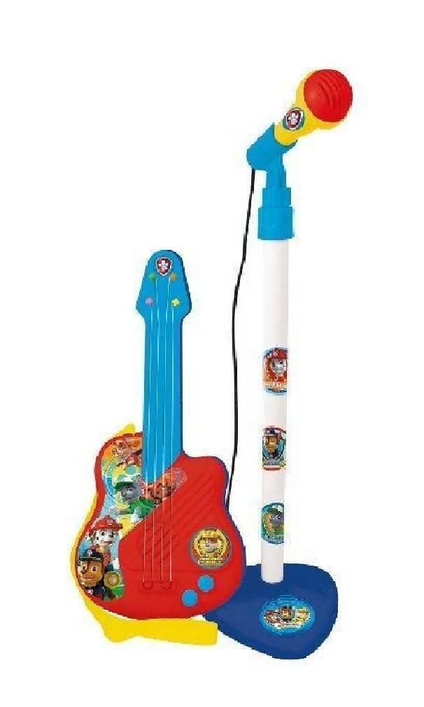 grandi giochi grandi giochi chitarra con microfono paw patrol