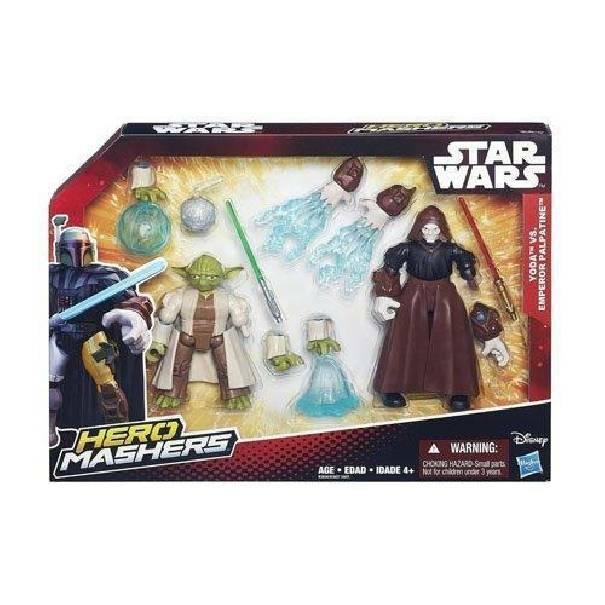 hasbro - mb hasbro - mb star wars 2 personaggi hero mashers