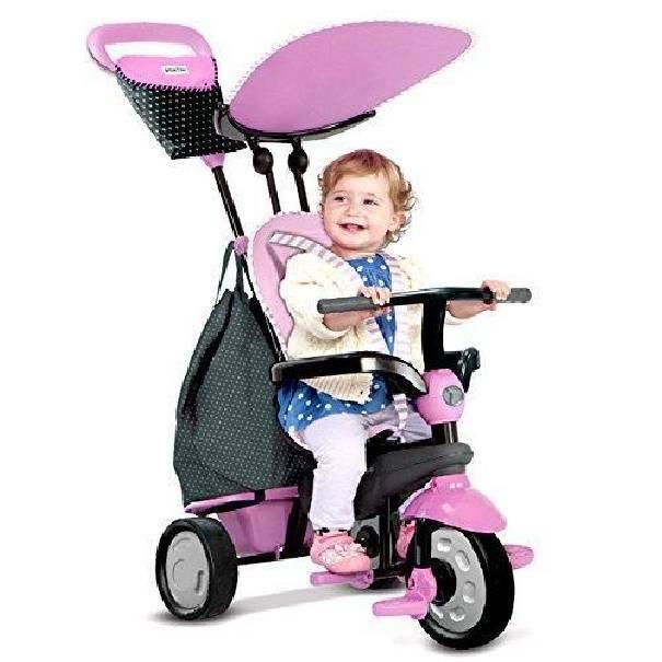 giochi preziosi giochi preziosi smart trike passeggino triciclo 4 in 1 rosa
