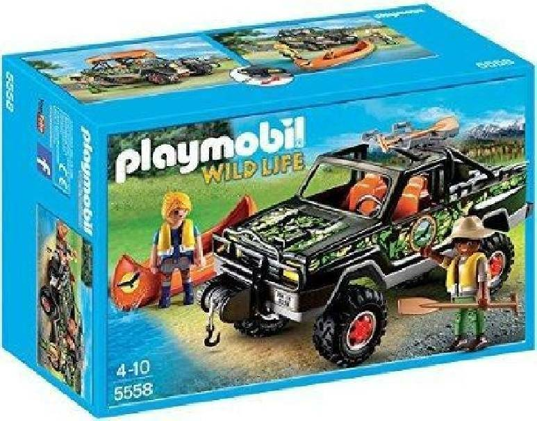 playmobil playmobil auto pickup avventura con canoa