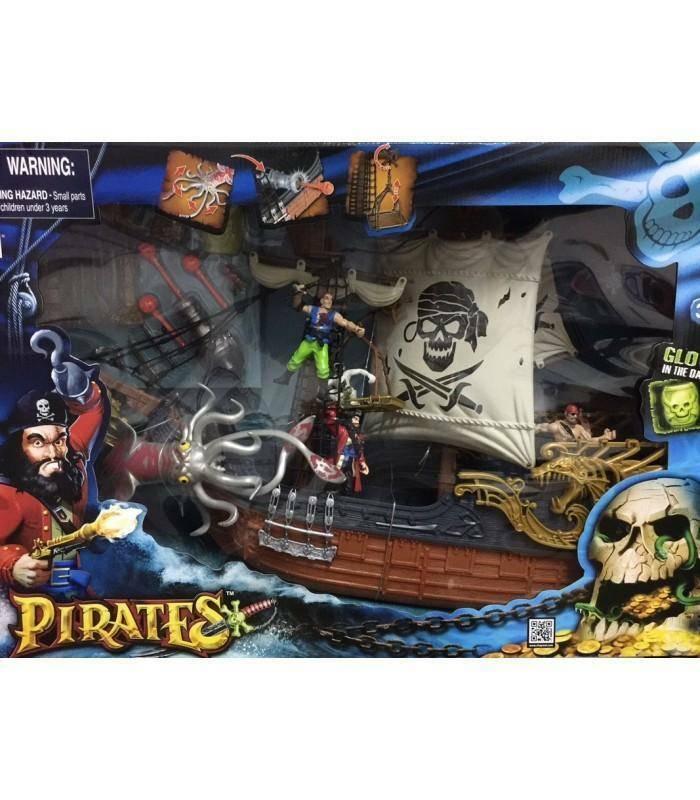 giocheria giocheria galeone pirati monster mega playset