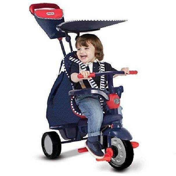 giochi preziosi giochi preziosi smart trike triciclo passeggino glow blu