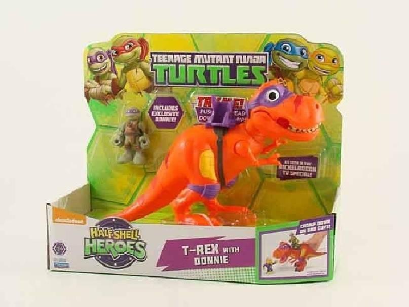 giochi preziosi giochi preziosi turtles hsh t-rex con donatello tartarughe ninja