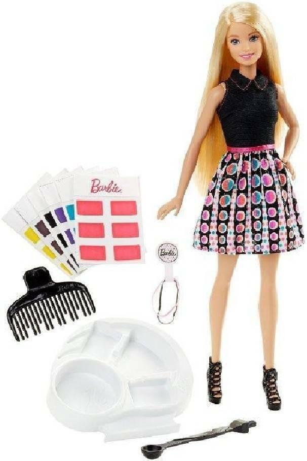 mattel mattel barbie acconciature colorate