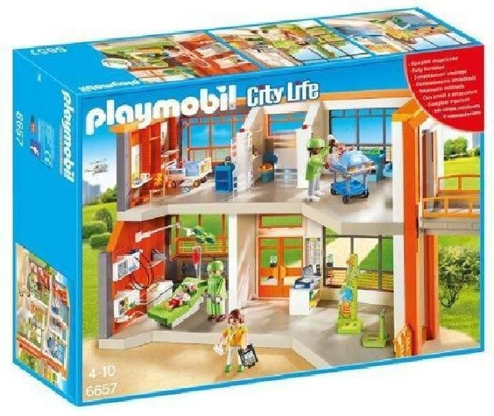 playmobil playmobil ospedale dei bambini attrezzato