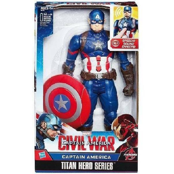 hasbro - mb hasbro - mb captain america personaggio elettronico