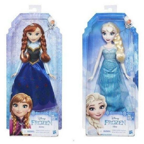 hasbro - mb hasbro - mb frozen bambola classica elsa anna