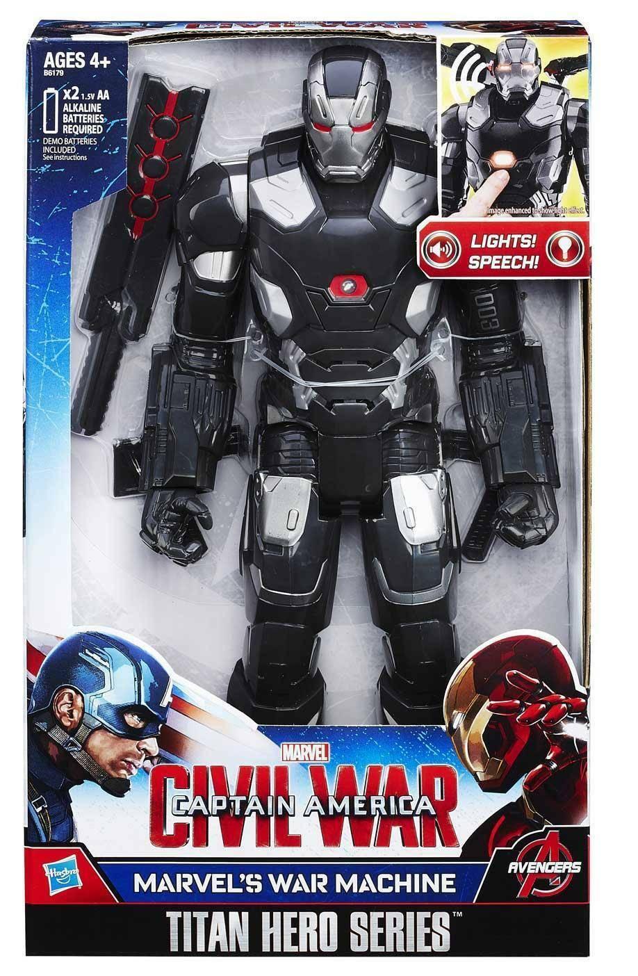 hasbro - mb hasbro - mb personagio war machine elettronico avengers