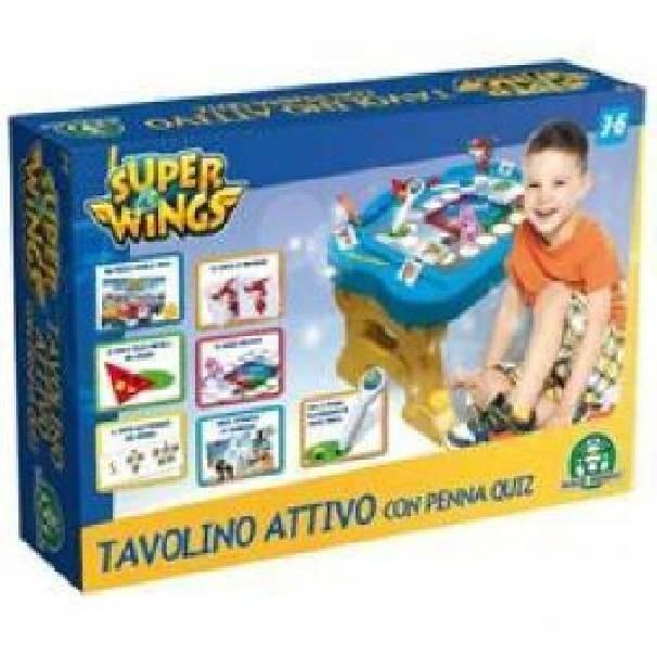 giochi preziosi giochi preziosi tavolino elettronico superwings con penna quiz