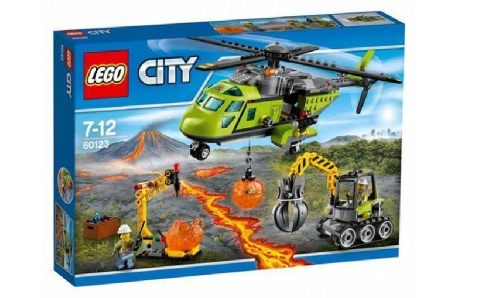 lego elicottero dei rifornimenti vulcanico lego 60123