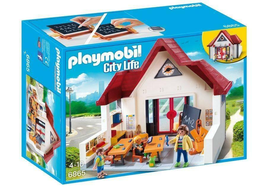 playmobil playmobil bambini a scuola