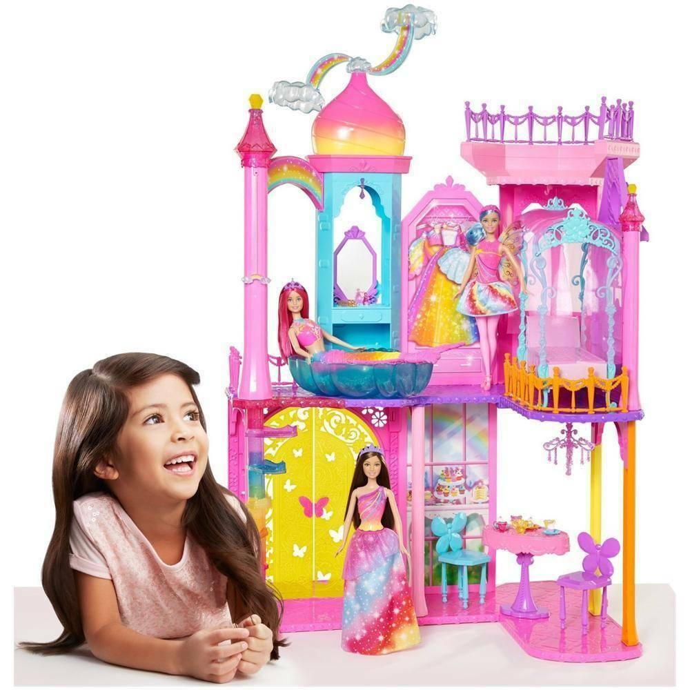 mattel mattel barbie castello arcobaleno