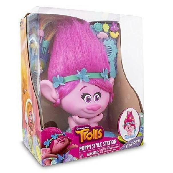 giochi preziosi giochi preziosi trolls testa da pettinare styling head poppy