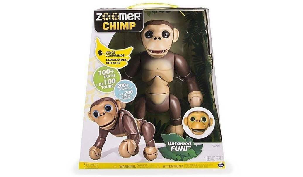 spinmaster spinmaster scimmia zoomer chimp interattivo robot