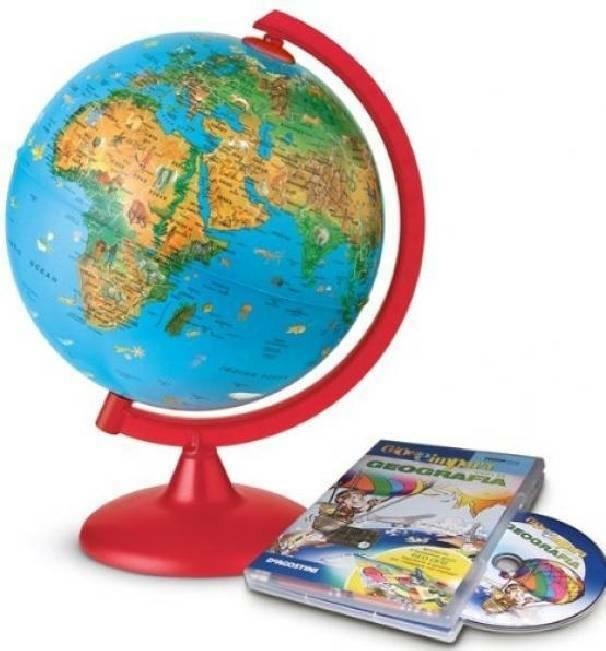 tecnodidattica tecnodidattica mappamondo zoo con cd gioca geografia