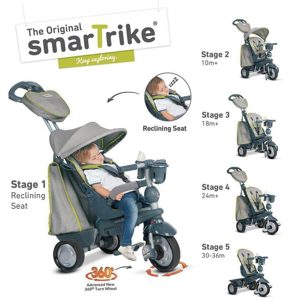 giochi preziosi giochi preziosi triciclo smart trike explorer grigio 5 in 1