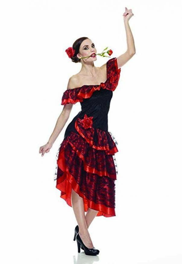 rubies rubies costume flamenco adulto taglia s