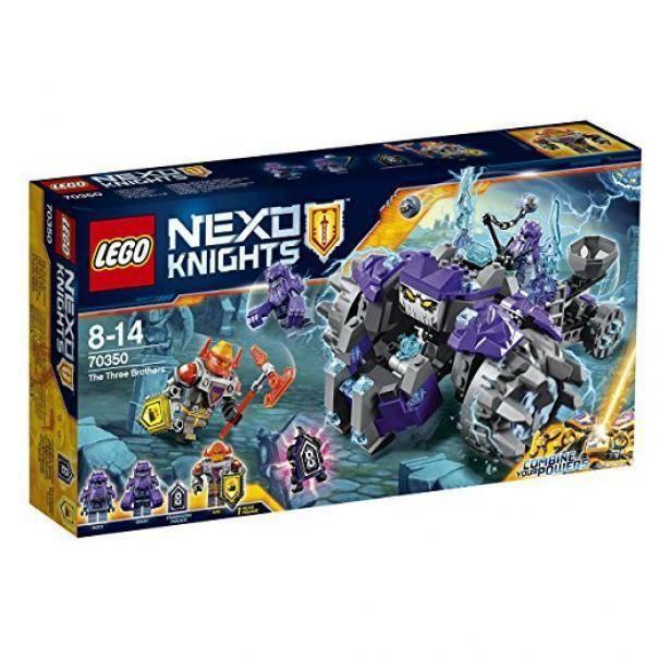 lego lego nexo knights tre fratelli