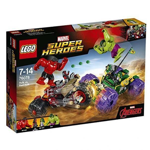 lego hulk contro red hulk lego 76078